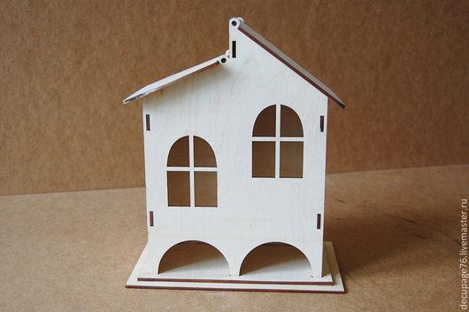 Чайный домик двойной (продается в разобранном виде в палетках) габарит - 12,5х21х25 см домик - 8,5х17х25 см,  подставки 12,5х21 см Материал: фанера 3 мм