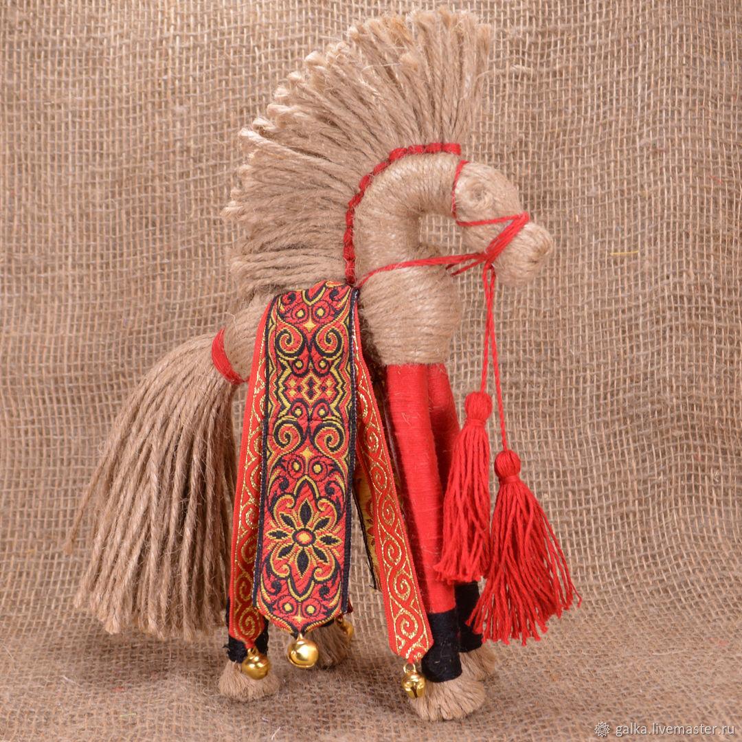 Конь.Народная кукла Солнечный конь. Игрушки животные, Мягкие игрушки, Москва,  Фото №1