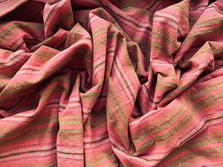 Ткань Хлопок Loro Piana Полоски на Розовом Германия, Ткани, Москва,  Фото №1
