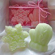 Косметика ручной работы. Ярмарка Мастеров - ручная работа Новогодний набор мыла. Мыло снежинка. мыло варежка. Handmade.