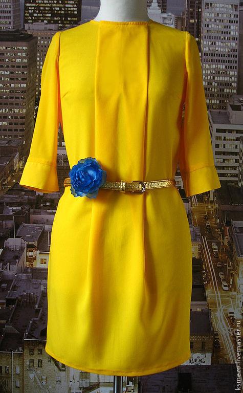"""Платья ручной работы. Ярмарка Мастеров - ручная работа. Купить Платье """"Лимонное"""" яркий тропический цвет. Handmade. Лимонный"""