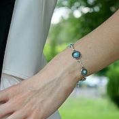 handmade. Livemaster - original item Adeola bracelet in 925 sterling silver with stones GR0008. Handmade.