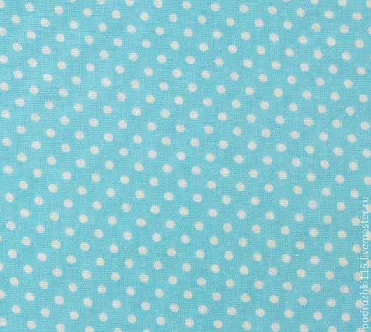 Шитье ручной работы. Ярмарка Мастеров - ручная работа. Купить Ткань Хлопок Горошек бирюзово-голубой. Handmade. Бязь