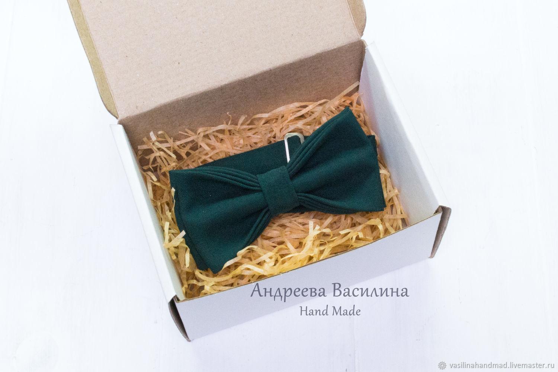 Dark green solid bow tie, Ties, Rostov-on-Don,  Фото №1