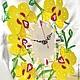 Часы для дома ручной работы. Заказать Золотая Орхидея Фьюзинг. Юля Нестерова ФЬЮЗИНГ. Ярмарка Мастеров. Золотая орхидея