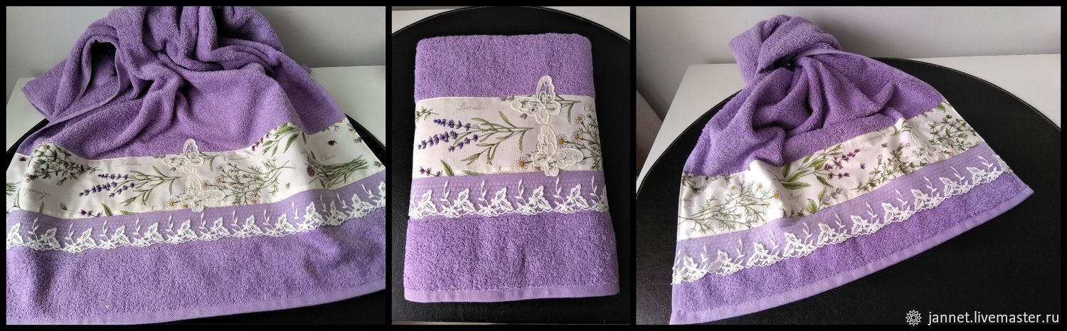 BOUQUET of LAVENDER - Terry towel, Towels, Moscow,  Фото №1