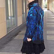 Одежда ручной работы. Ярмарка Мастеров - ручная работа Пальто войлочное на шелке. Handmade.
