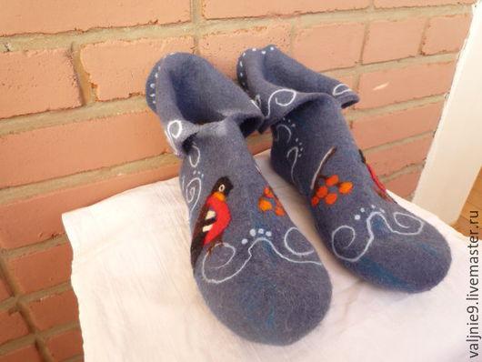 """Обувь ручной работы. Ярмарка Мастеров - ручная работа. Купить Домашние сапожки,носочки,чуни,,Зимняя сказка"""". Handmade."""