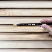 Ручки ручной работы. Ярмарка Мастеров - ручная работа Металлическая ручка с золотой гравировкой. Handmade.