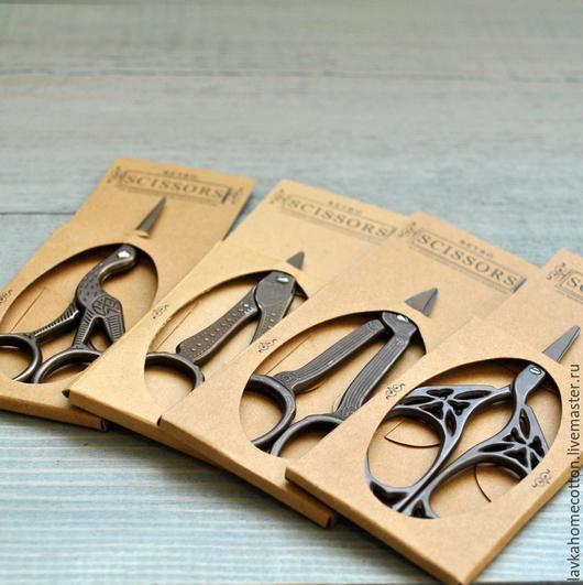 Шитье ручной работы. Ярмарка Мастеров - ручная работа. Купить Ножницы ретро, 4 вида. Handmade. Ножницы, инструменты для валяния