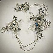 Свадебный салон handmade. Livemaster - original item Wedding decoration Bridal comb, Gadsby. Handmade.