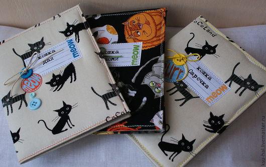 Аксессуары для кошек, ручной работы. Ярмарка Мастеров - ручная работа. Купить Обложка для паспорта кошки. Handmade. Паспорт, ткань хлопок