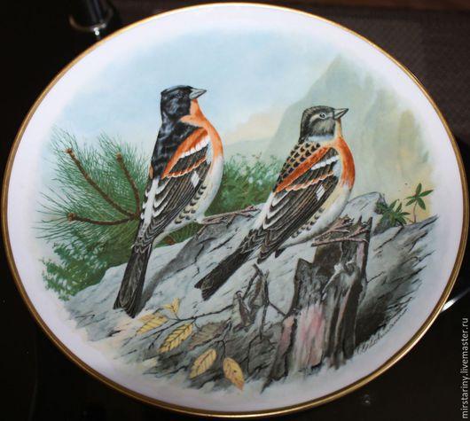 """Винтажные предметы интерьера. Ярмарка Мастеров - ручная работа. Купить Красивая настенная, фарфоровая тарелка """"ЮРОК"""", Kaiser, Германия. Handmade."""