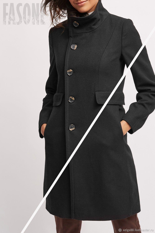 coat: Black women's coat with stand-up collar, Coats, Prague, Фото №1