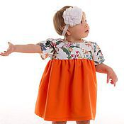 Работы для детей, ручной работы. Ярмарка Мастеров - ручная работа Оранжевое платье для девочки.. Handmade.