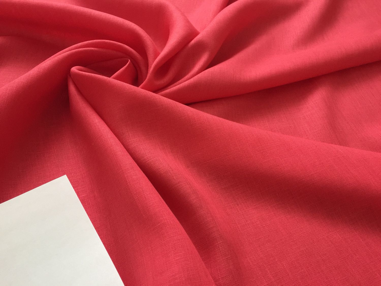 Flax 100% suit 'Strawberry' Shir.150 cm, Fabric, Ivanovo,  Фото №1