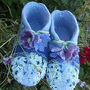 Обувь ручной работы. Ярмарка Мастеров - ручная работа Башмачки валянные,,Фиалка``. Handmade.