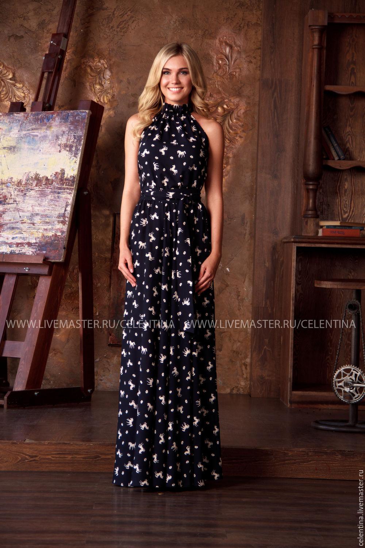 Красивое нарядное черное платье
