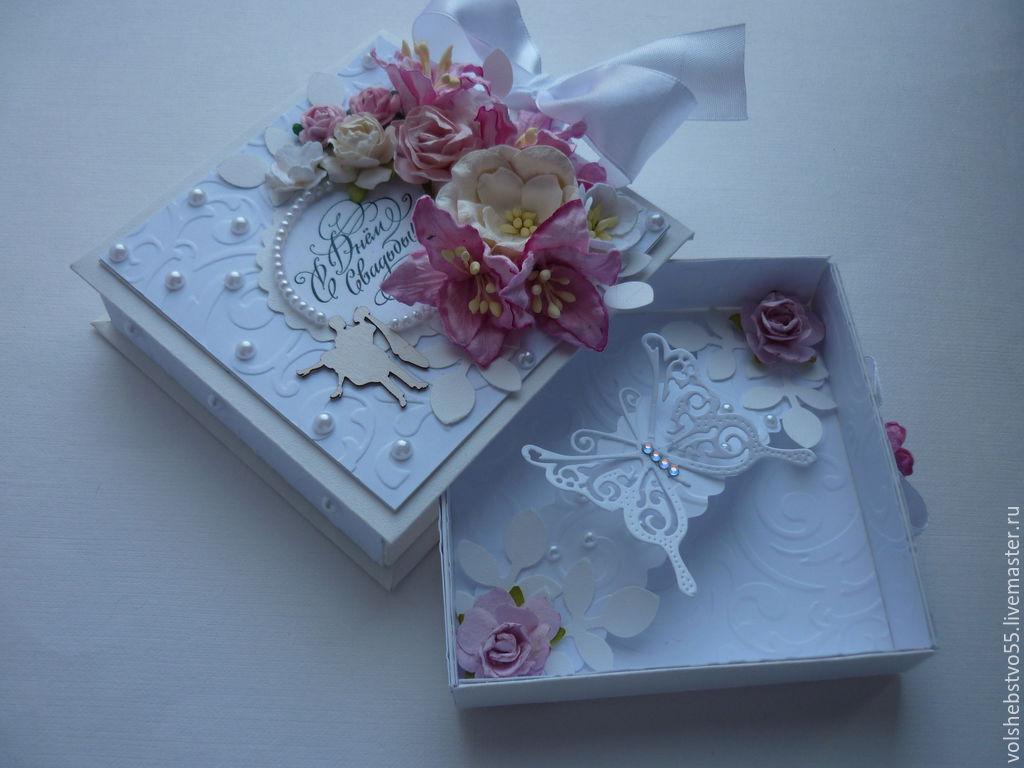 Днем рождения, коробочку для открытки