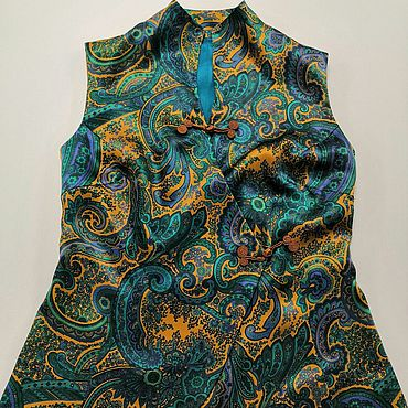 Clothing handmade. Livemaster - original item A silk vest in an Oriental style. Handmade.