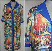 """Одежда ручной работы. Ярмарка Мастеров - ручная работа Платье-рубашка """"Любимый город"""". Handmade."""