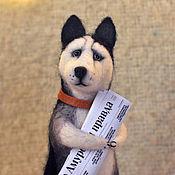 Куклы и игрушки ручной работы. Ярмарка Мастеров - ручная работа игрушка из шерсти собака хаски toy dog Husky А вот Хасочка. Handmade.