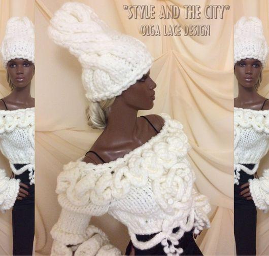 """Шапки ручной работы. Ярмарка Мастеров - ручная работа. Купить Вязаная шапка """"Style"""" из коллекции """"Style and the City"""" от Olga Lace. Handmade."""