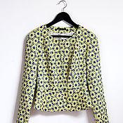 Одежда handmade. Livemaster - original item Women`s cropped jacket with peplum. Handmade.