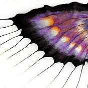 Аксессуары ручной работы. Ярмарка Мастеров - ручная работа Палантин валяный ,натуральная шерсть,Бабочка Весенняя. Handmade.