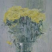 Картины и панно ручной работы. Ярмарка Мастеров - ручная работа желтые цветы. Handmade.