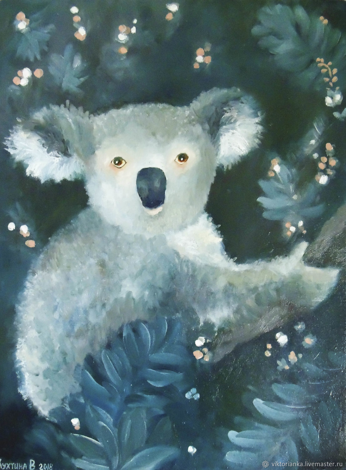 Koala oil Painting, Pictures, Moscow,  Фото №1