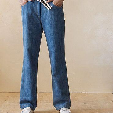 Одежда ручной работы. Ярмарка Мастеров - ручная работа Джинсы женские прямого кроя Jeans. Handmade.