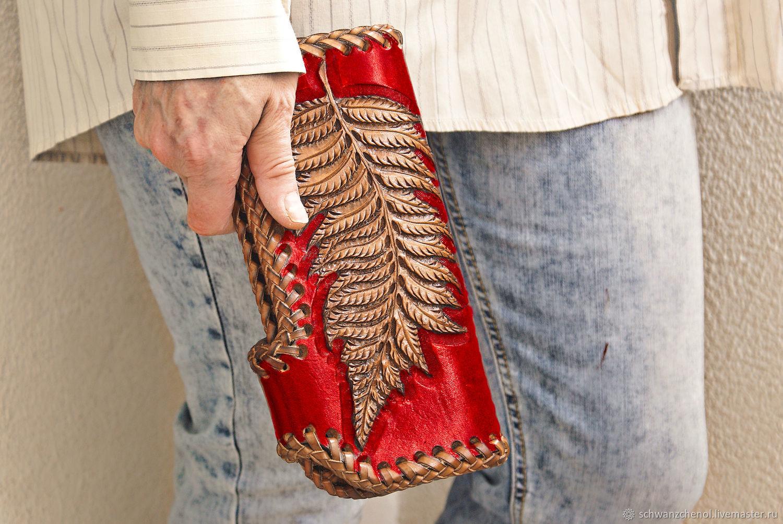 Wallet leather 'small Fern' color, Wallets, Krasnodar,  Фото №1