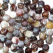 Материалы для творчества handmade. Livemaster - original item Agate Botswana, 10 mm, smooth bead ball (natural stone). Handmade.