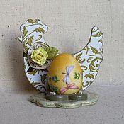 """Подарки к праздникам ручной работы. Ярмарка Мастеров - ручная работа Подставка для яйца """"Курочка"""". Handmade."""