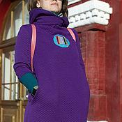 Одежда handmade. Livemaster - original item Purple dress with a circle. Handmade.