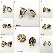 Материалы для творчества handmade. Livemaster - original item Bails for jewelry Art.BU07. Handmade.