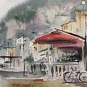 """Картины и панно ручной работы. Ярмарка Мастеров - ручная работа """"Кафе на побережье"""". Handmade."""