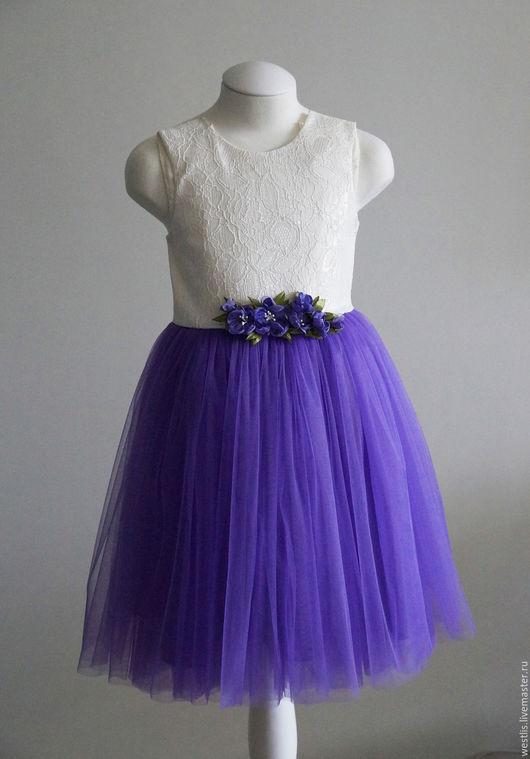 Одежда для девочек, ручной работы. Ярмарка Мастеров - ручная работа. Купить Детское фатиновое платье с пышной юбкой. Handmade. Комбинированный