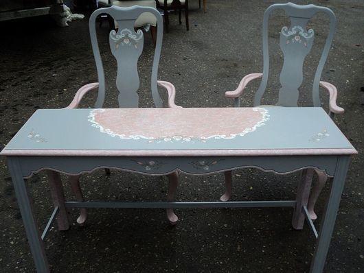 Мебель ручной работы. Ярмарка Мастеров - ручная работа. Купить консоль и стулья. Handmade. Мебель из массива, мебель прованс