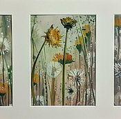 Картины и панно handmade. Livemaster - original item Flying flower. Triptych.. Handmade.