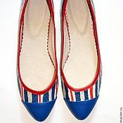 """Обувь ручной работы. Ярмарка Мастеров - ручная работа Балетки """"Британия"""". Handmade."""
