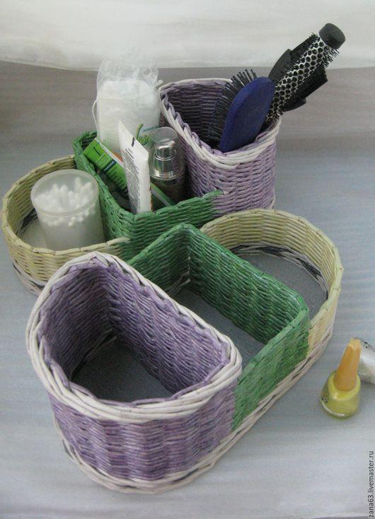 Ванная комната ручной работы. Ярмарка Мастеров - ручная работа. Купить Корзинка для мелочей. Handmade. Комбинированный, плетеная корзина, обои