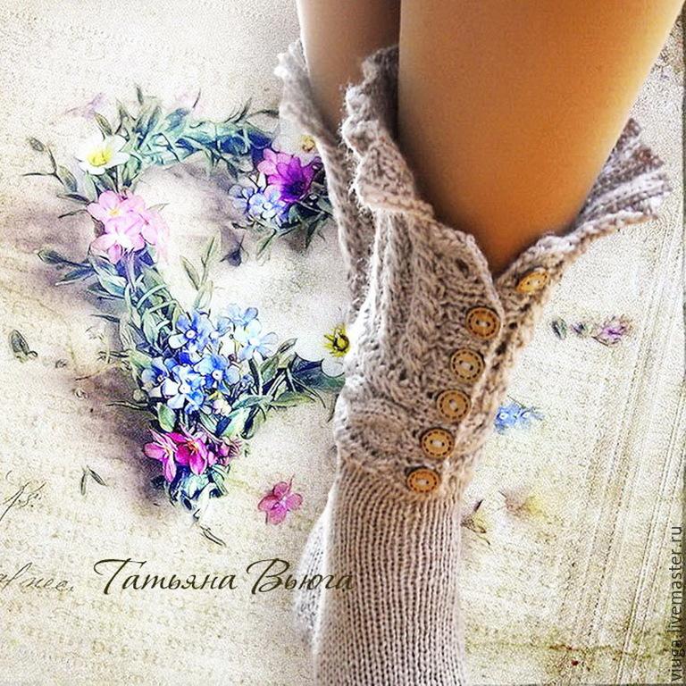 Купить Сказание. Носки вязаные, шерстяные носки, домашняя ...