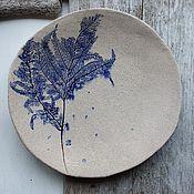 """Посуда ручной работы. Ярмарка Мастеров - ручная работа Тарелка """"Ветвь папоротника"""". Handmade."""