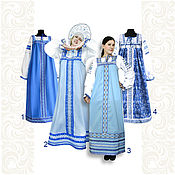 Русский стиль handmade. Livemaster - original item Сotton dress for woman and girl. Handmade.
