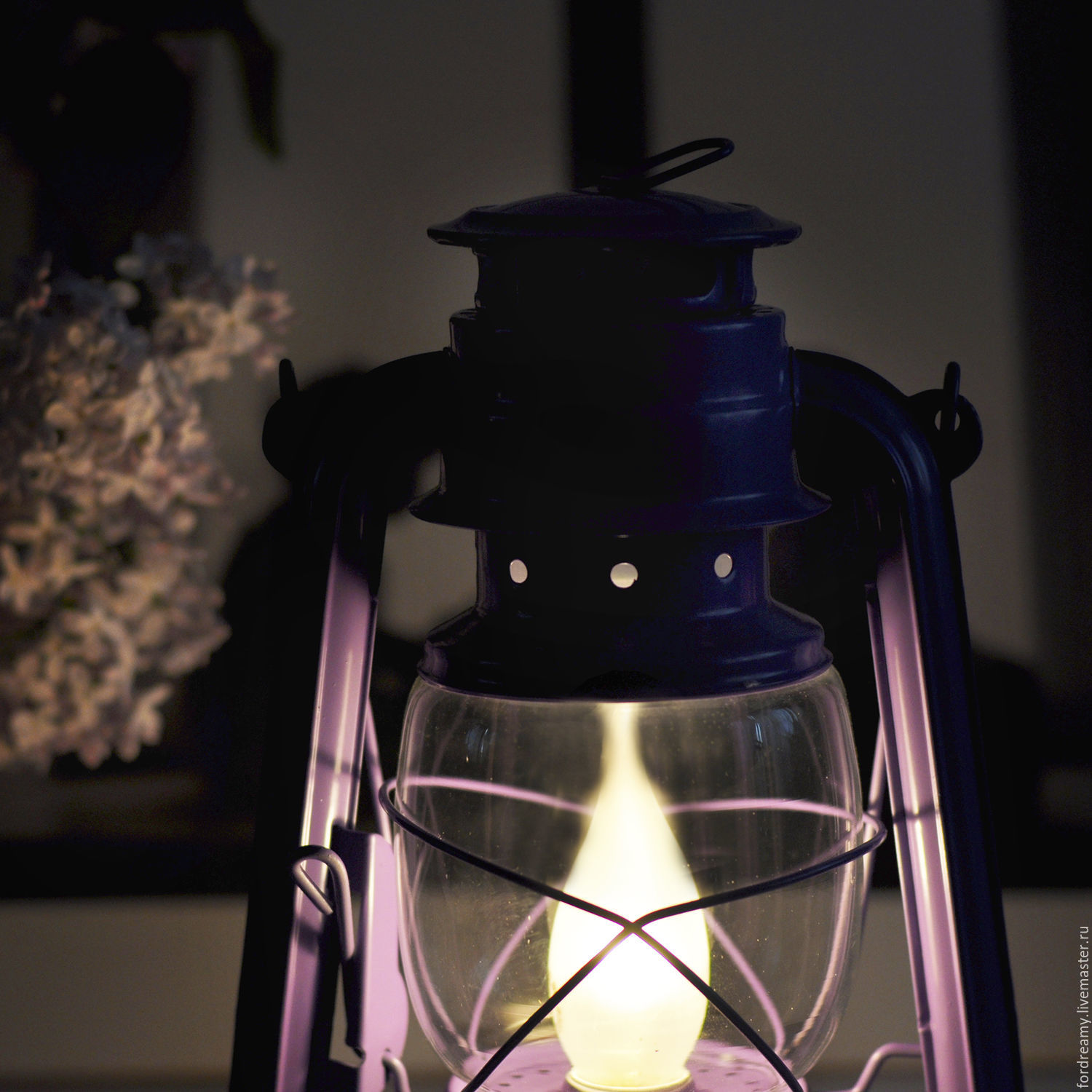 Table kerosene lamp vintage lilac shop online on livemaster with fair masters lilac table electric oil lamp fair masters handmade geotapseo Image collections