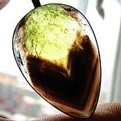 """Подвеска ручной работы. Ярмарка Мастеров - ручная работа кулон """"Тюльпан"""" цена 3000,морион с цитрином. Handmade."""
