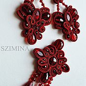 Украшения handmade. Livemaster - original item Soutache set of brooches and earrings