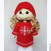 """Куклы и игрушки ручной работы. Ярмарка Мастеров - ручная работа Кукла вязаная """"Подружка"""". Игровая. На заказ. Handmade."""